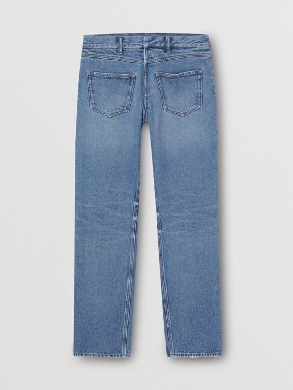Jeans destrutturati dal taglio dritto (Blu Vintage)