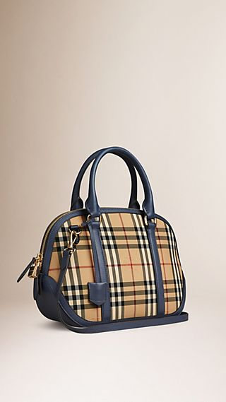 Bolsa Orchard pequena com estampa Horseferry Check