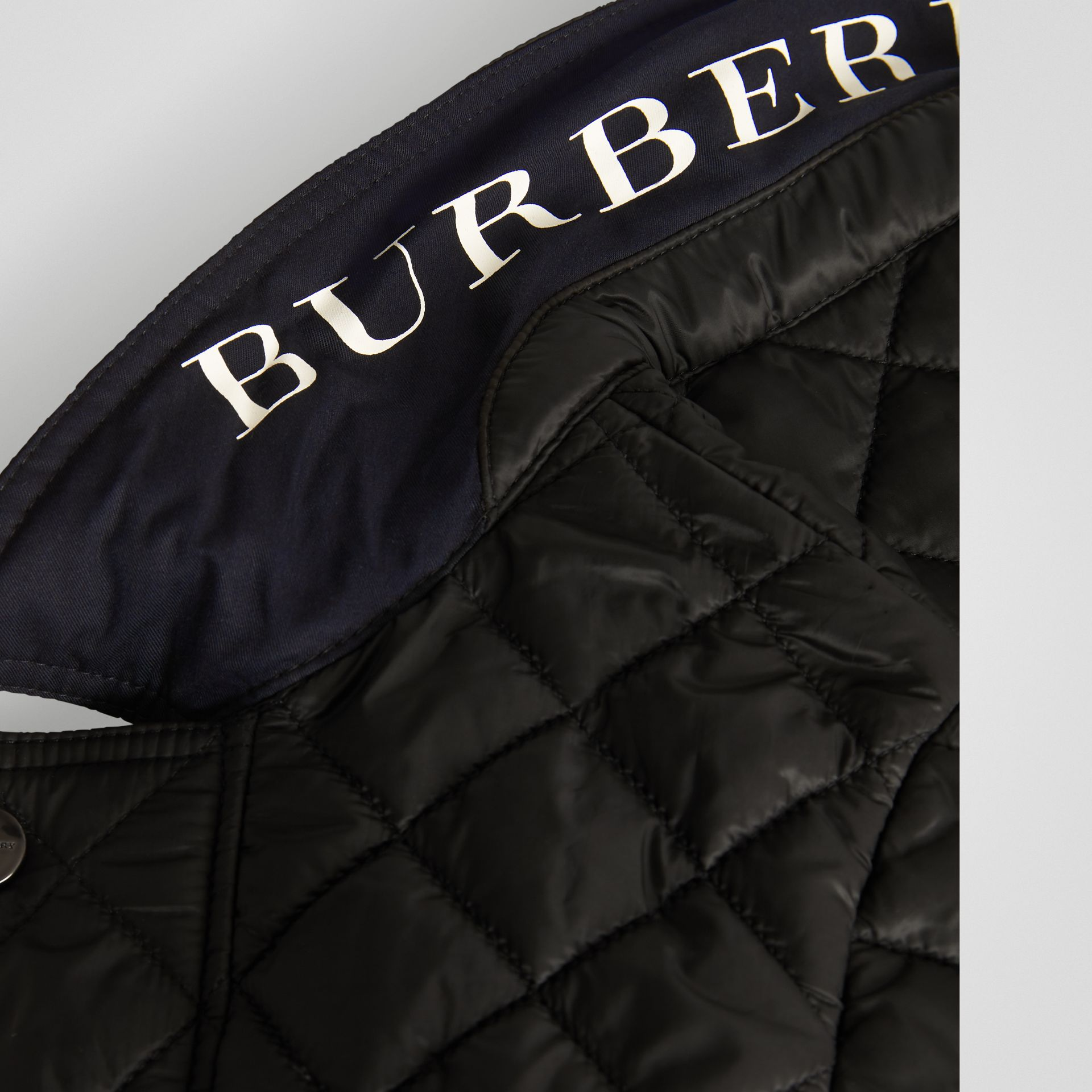 Lightweight Diamond Quilted Jacket in Black | Burberry Australia - gallery image 1