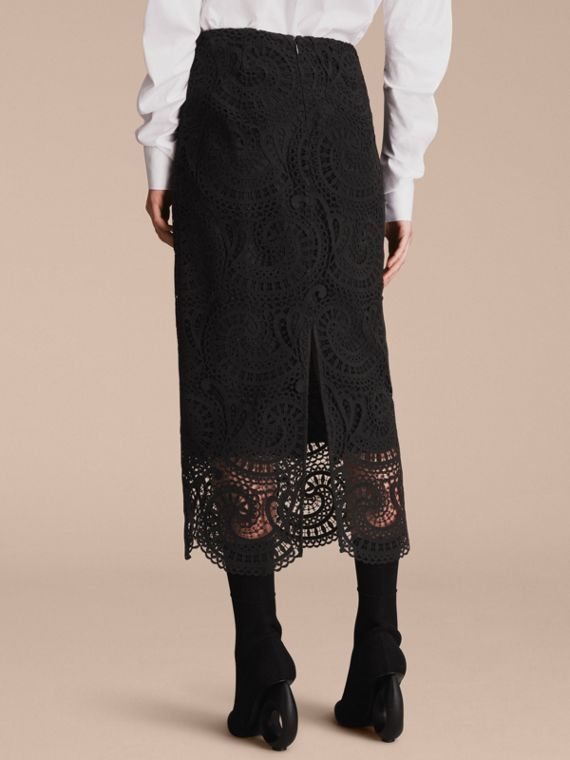Macramé Lace Skirt - Women | Burberry - cell image 2