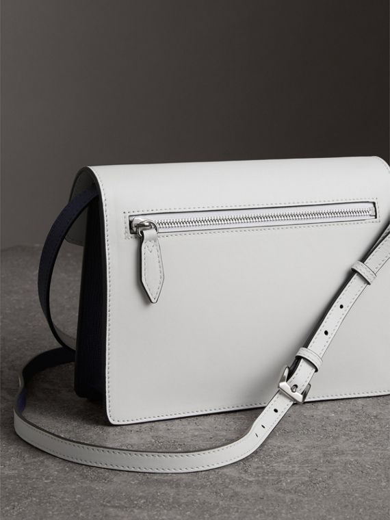 Two-tone Leather Crossbody Bag in Regency Blue/chalk White - Women | Burberry United Kingdom - cell image 2