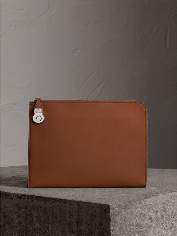 Trench Leather Document Case in Tan