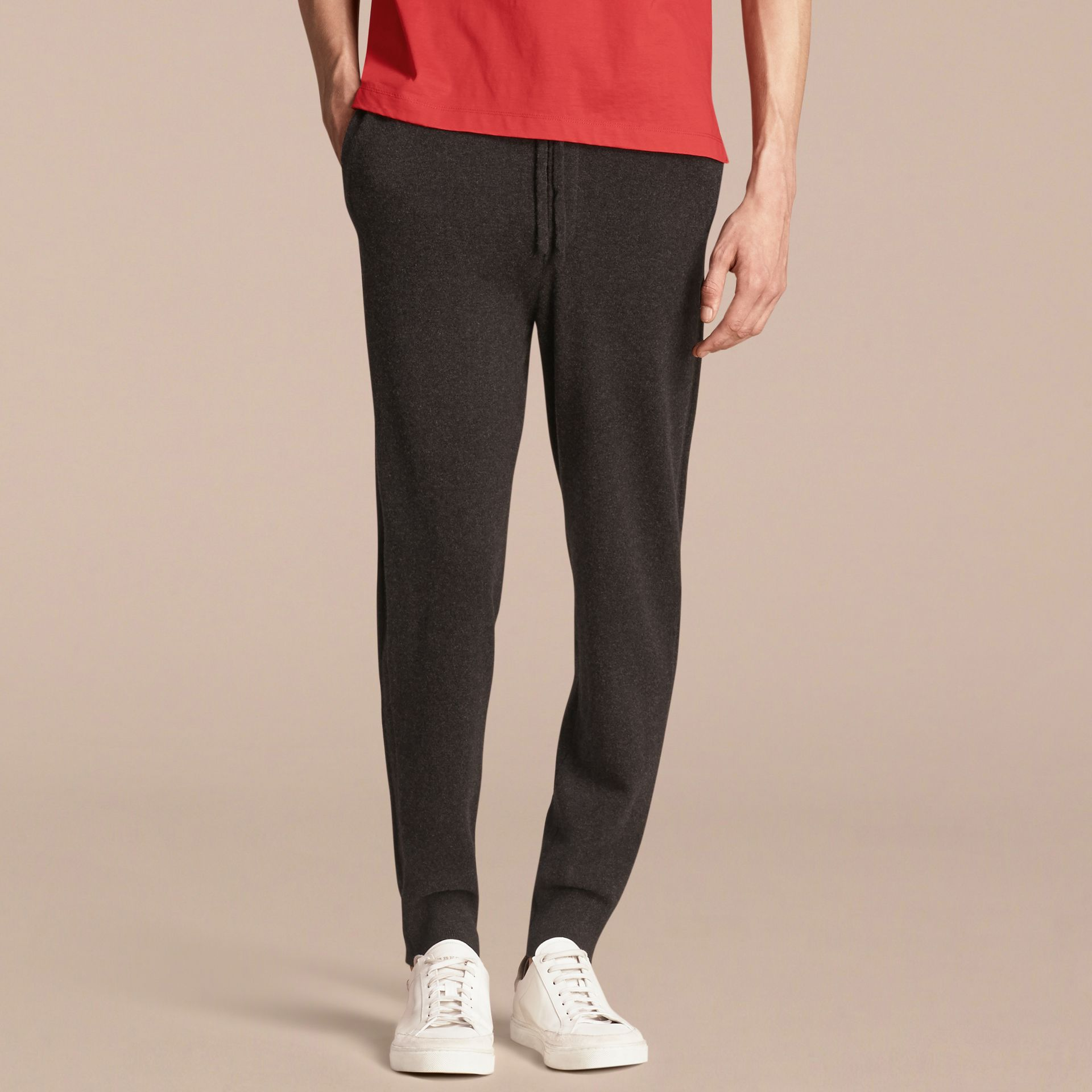 Knitted Cashmere Blend Drawstring Trousers - gallery image 5