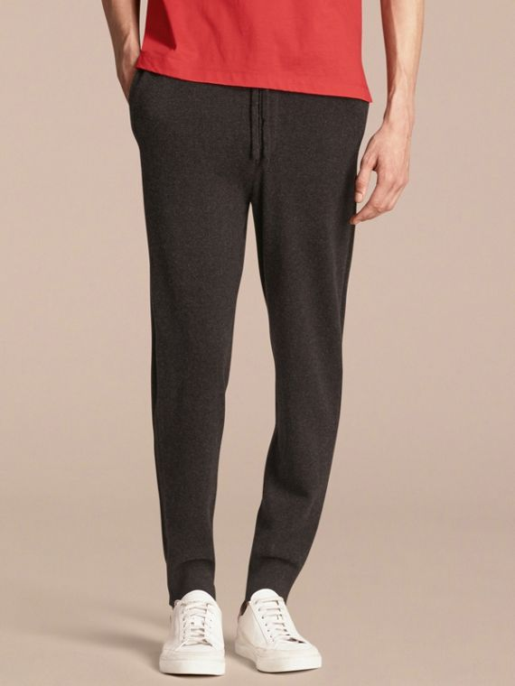 Knitted Cashmere Blend Drawstring Trousers