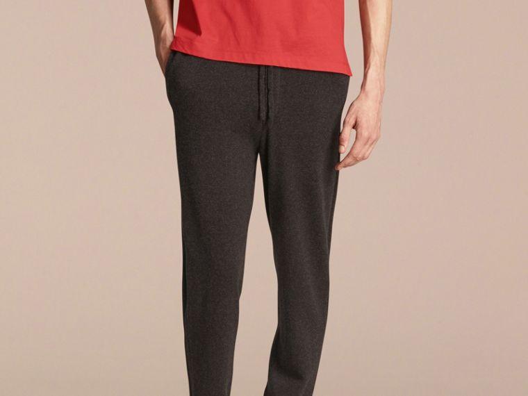 Knitted Cashmere Blend Drawstring Trousers - cell image 4