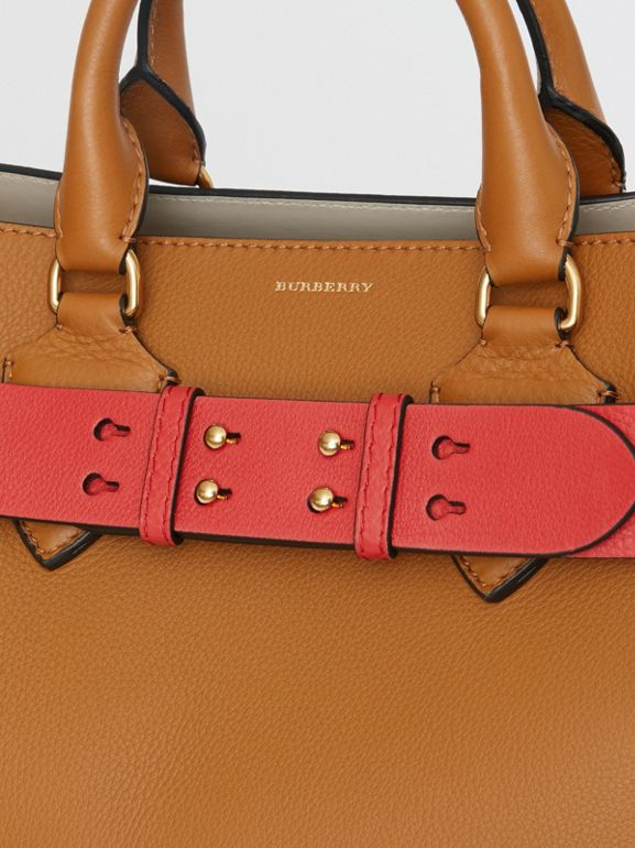 The Medium Belt Bag Grainy Leather Belt in Bright Crimson Pink - Women | Burberry Singapore - cell image 1