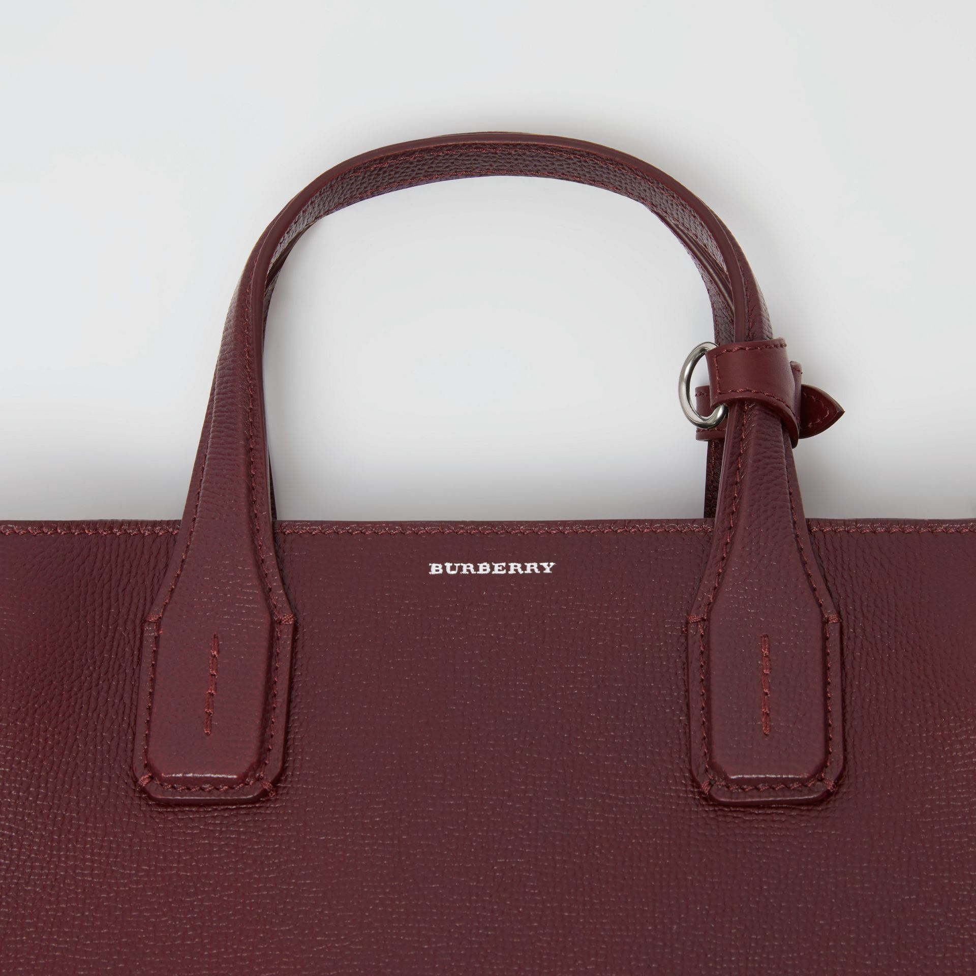 The Medium Banner in Leather and Vintage Check in Mahogany Red - Women | Burberry Australia - gallery image 1