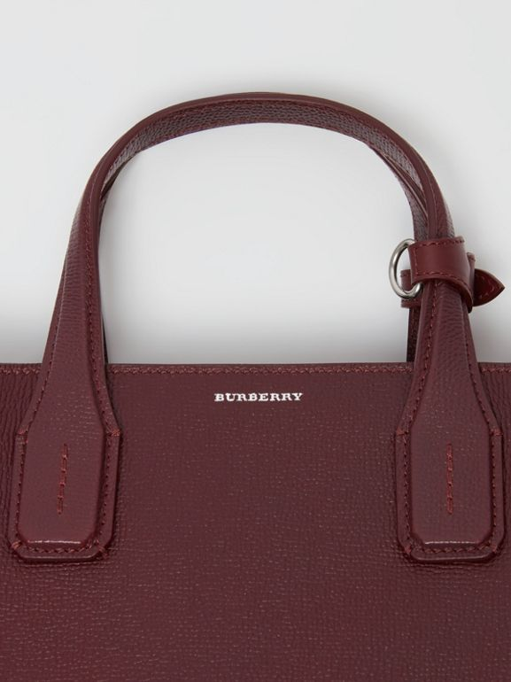 The Banner media in pelle e motivo Vintage check (Rosso Mogano) - Donna | Burberry - cell image 1