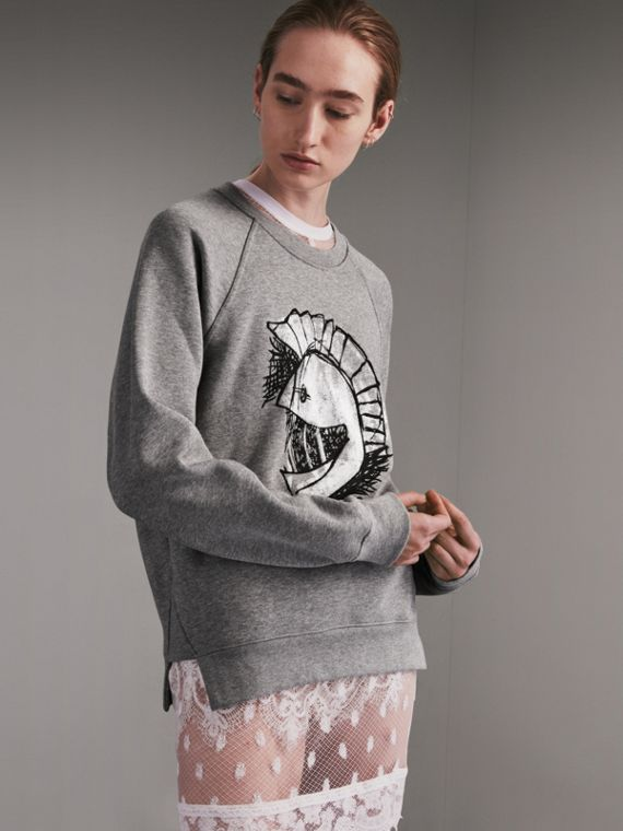 Unisex Pallas Helmet Motif Sweatshirt - Men | Burberry - cell image 2