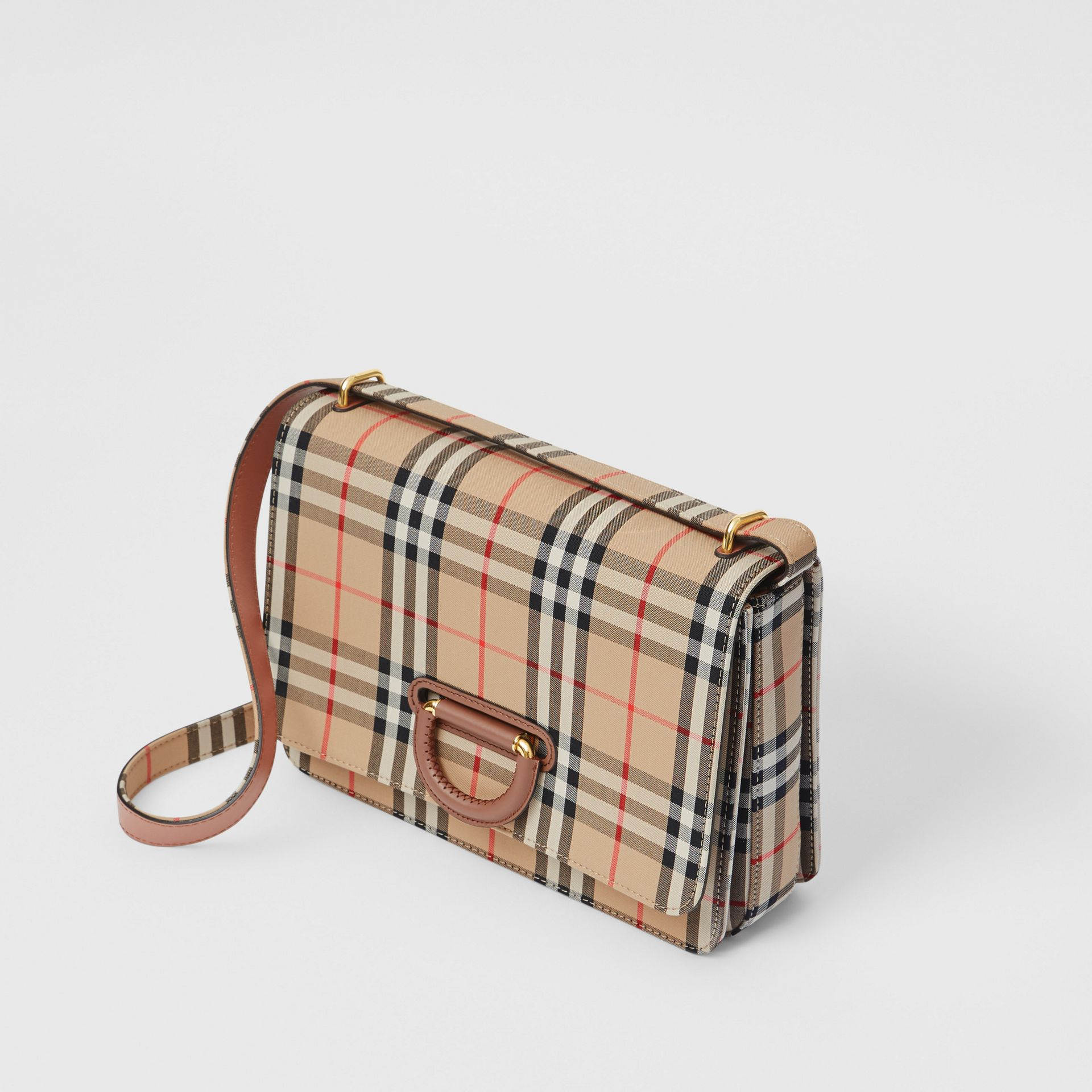 The Medium Vintage Check D-ring Bag in Archive Beige - Women | Burberry - gallery image 3