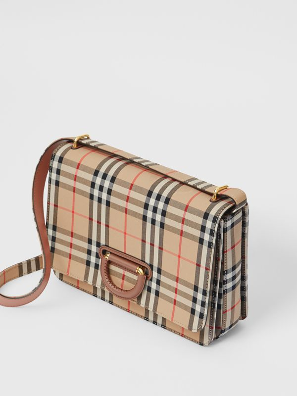 The Medium Vintage Check D-ring Bag in Archive Beige - Women | Burberry - cell image 3