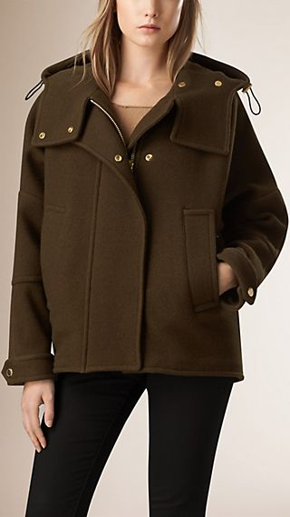 Double Virgin Wool Cashmere Parka