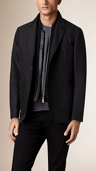 Tailored Jacket with Detachable Wool Warmer