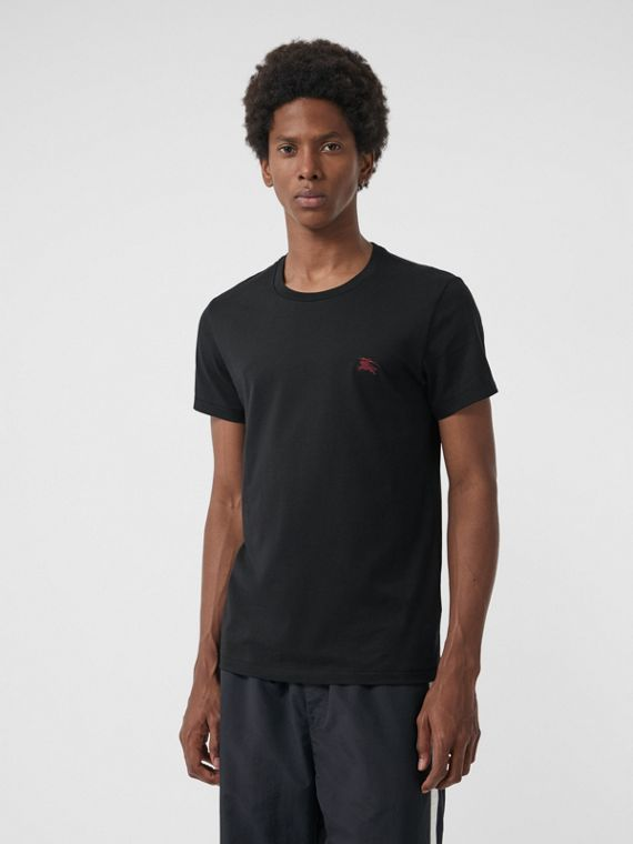 Cotton Jersey T-shirt in Black