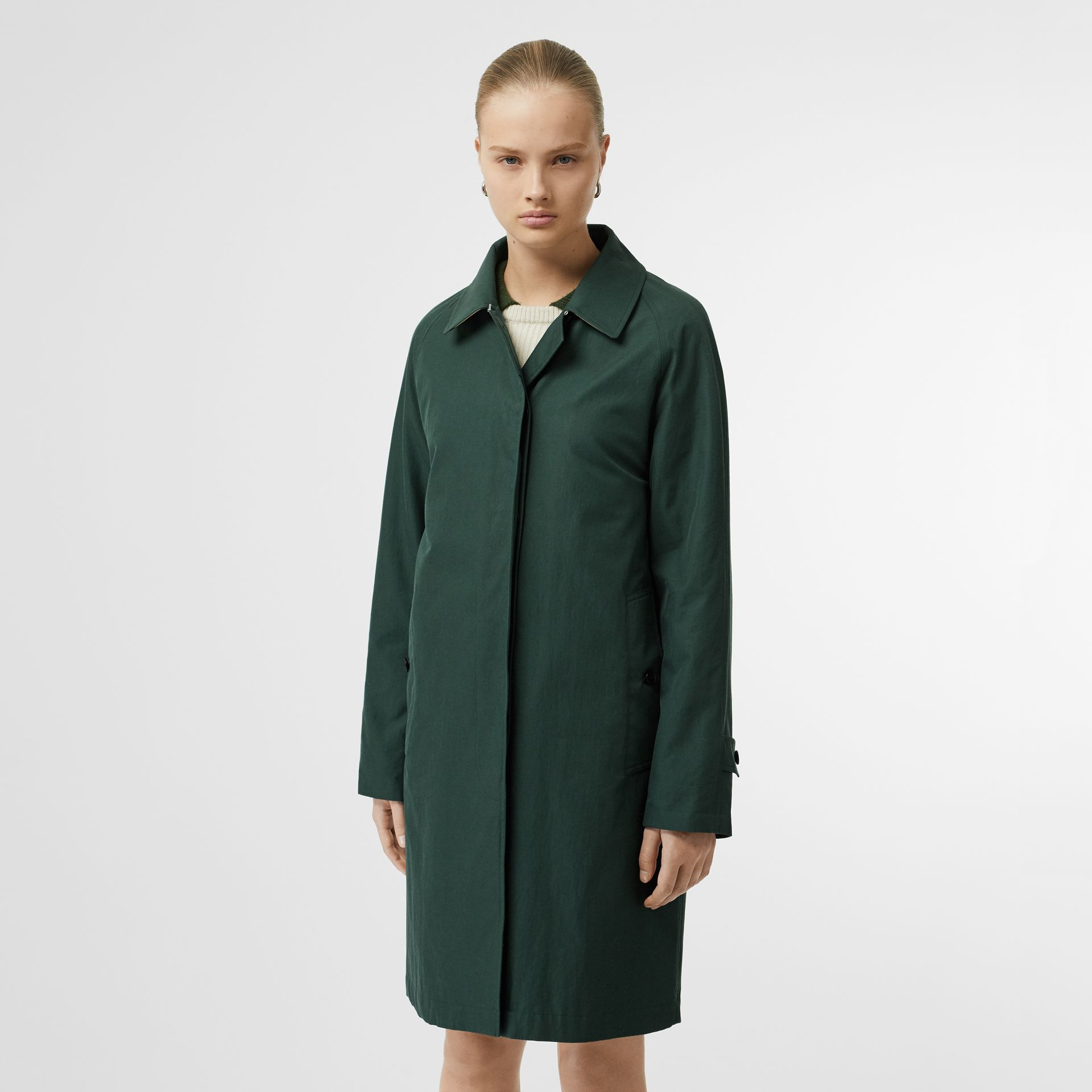 The Camden Car Coat in Dark Emerald - Women | Burberry United Kingdom - gallery image 6