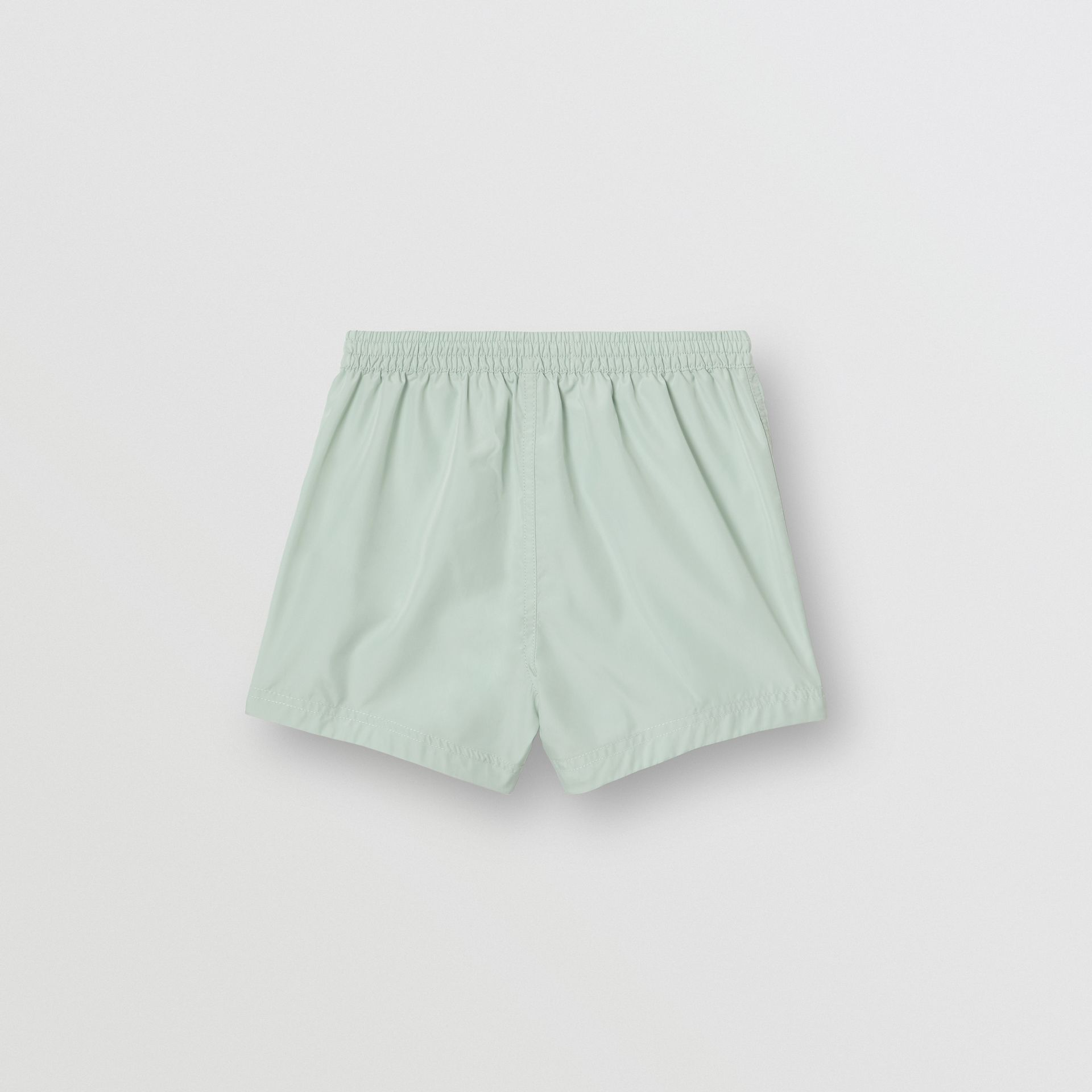 Logo Print Drawcord Swim Shorts in Pale Opal - Children | Burberry Canada - gallery image 3