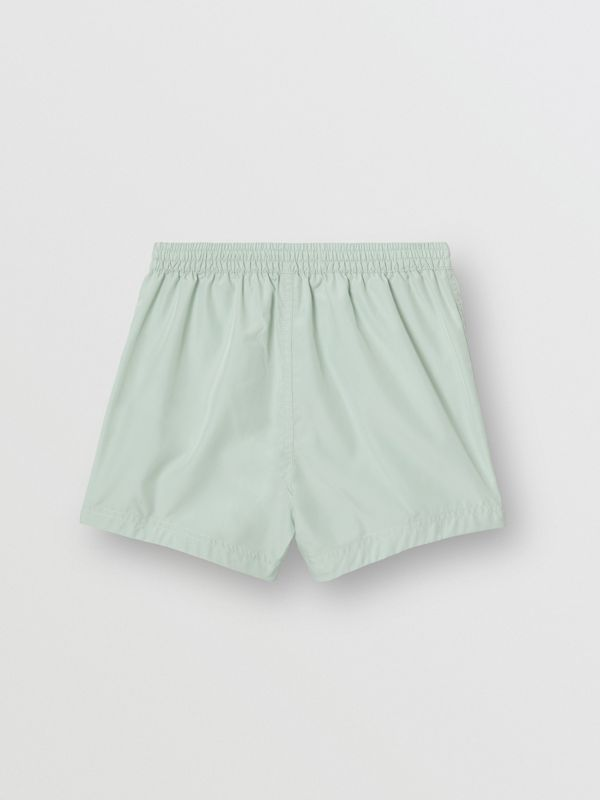 Logo Print Drawcord Swim Shorts in Pale Opal - Children | Burberry Canada - cell image 3