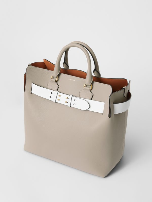 The Large Leather Belt Bag in Mineral Grey | Burberry Singapore - cell image 2