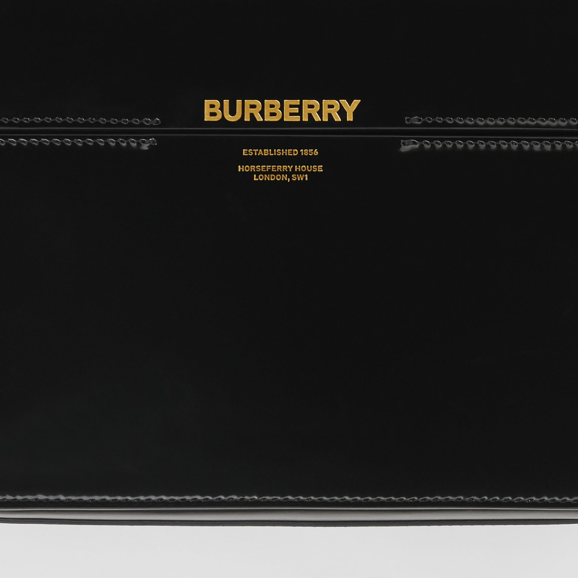 Large Patent Leather Grace Bag in Black - Women | Burberry Singapore - gallery image 1
