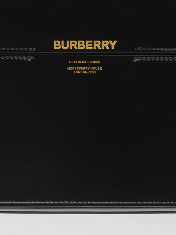 Large Patent Leather Grace Bag in Black - Women | Burberry - cell image 1