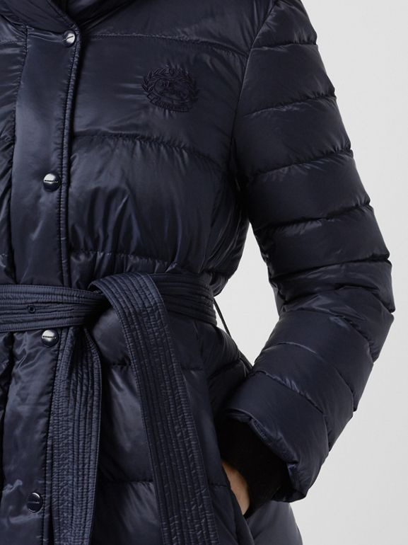Down-filled Hooded Puffer Coat in Navy - Women | Burberry United Kingdom - cell image 1