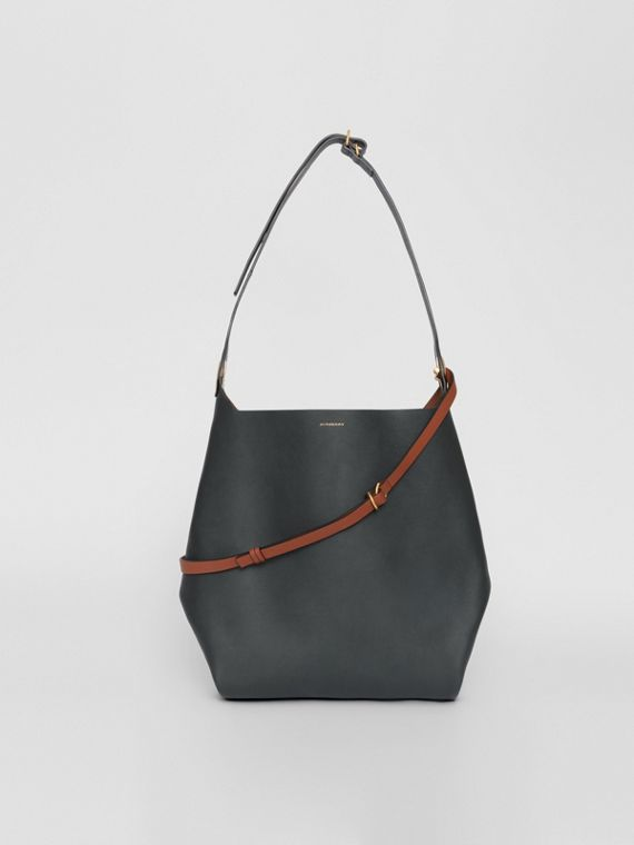 The Leather Grommet Detail Bag in Dark Emerald