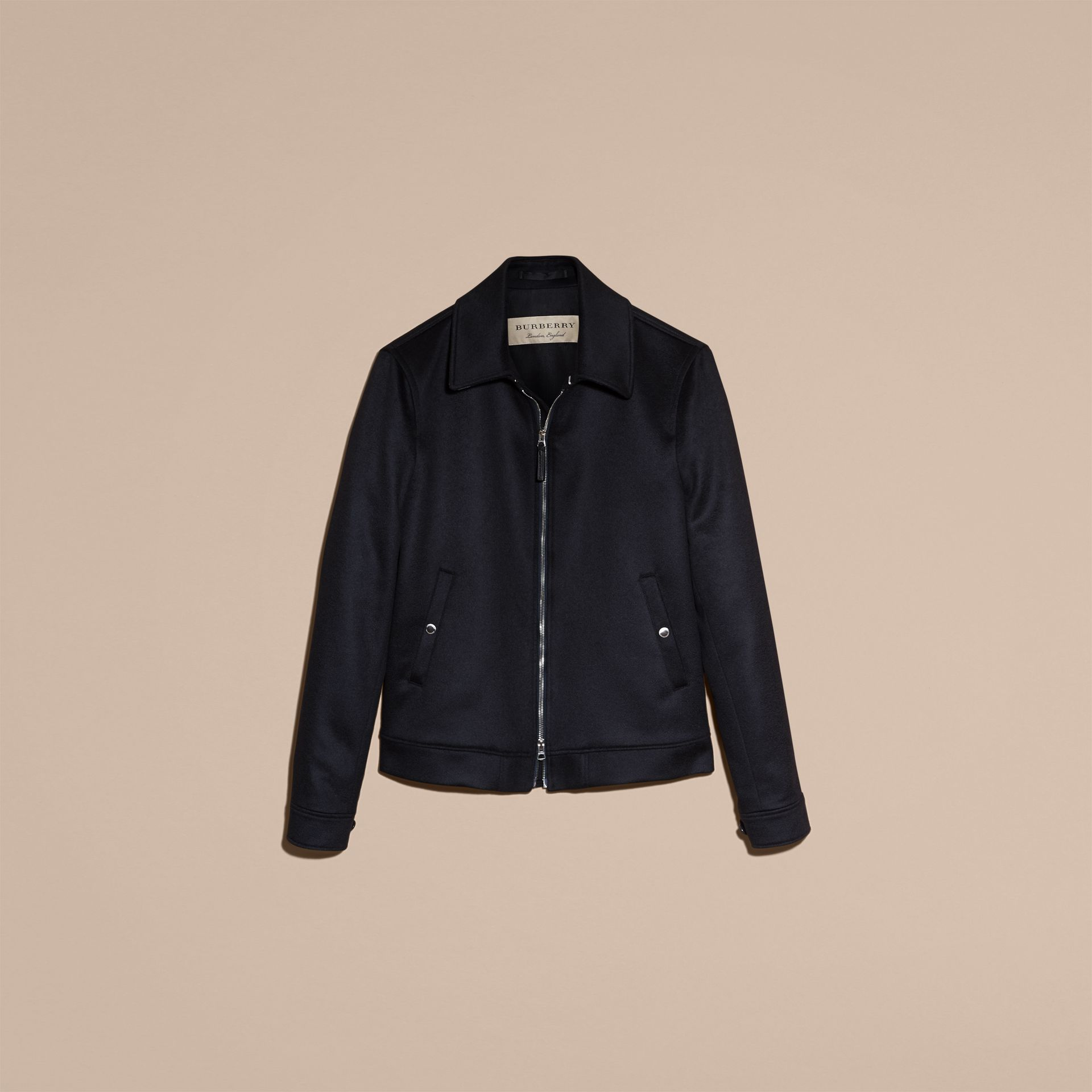 Navy Cashmere Jacket - gallery image 4