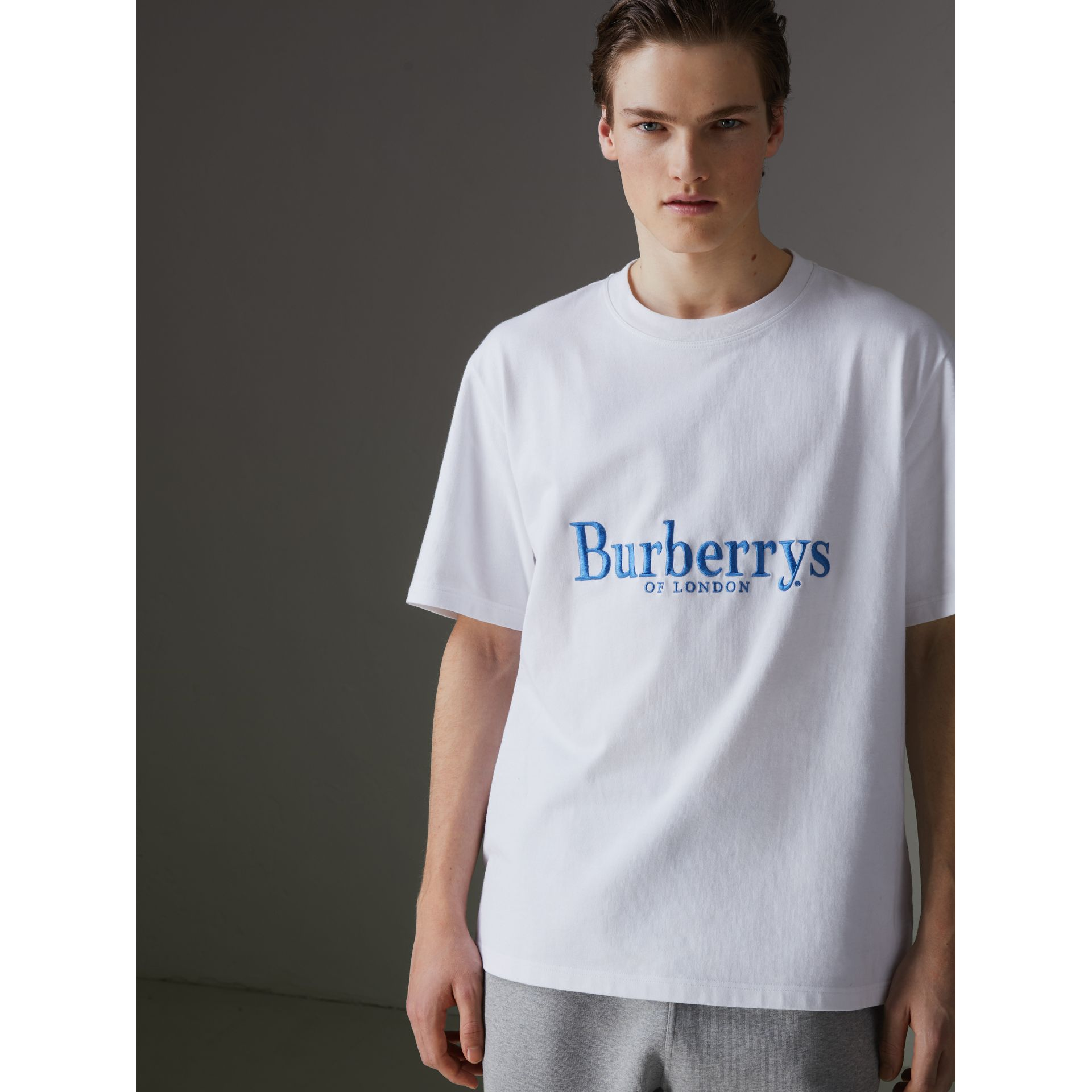 Reissued Cotton T-shirt in White - Men | Burberry United States - gallery image 4