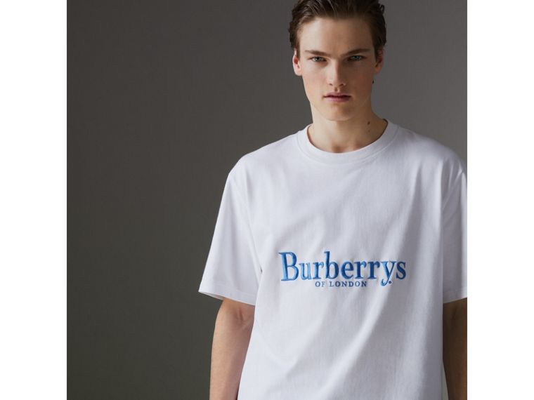 Reissued Cotton T-shirt in White - Men | Burberry United States - cell image 4