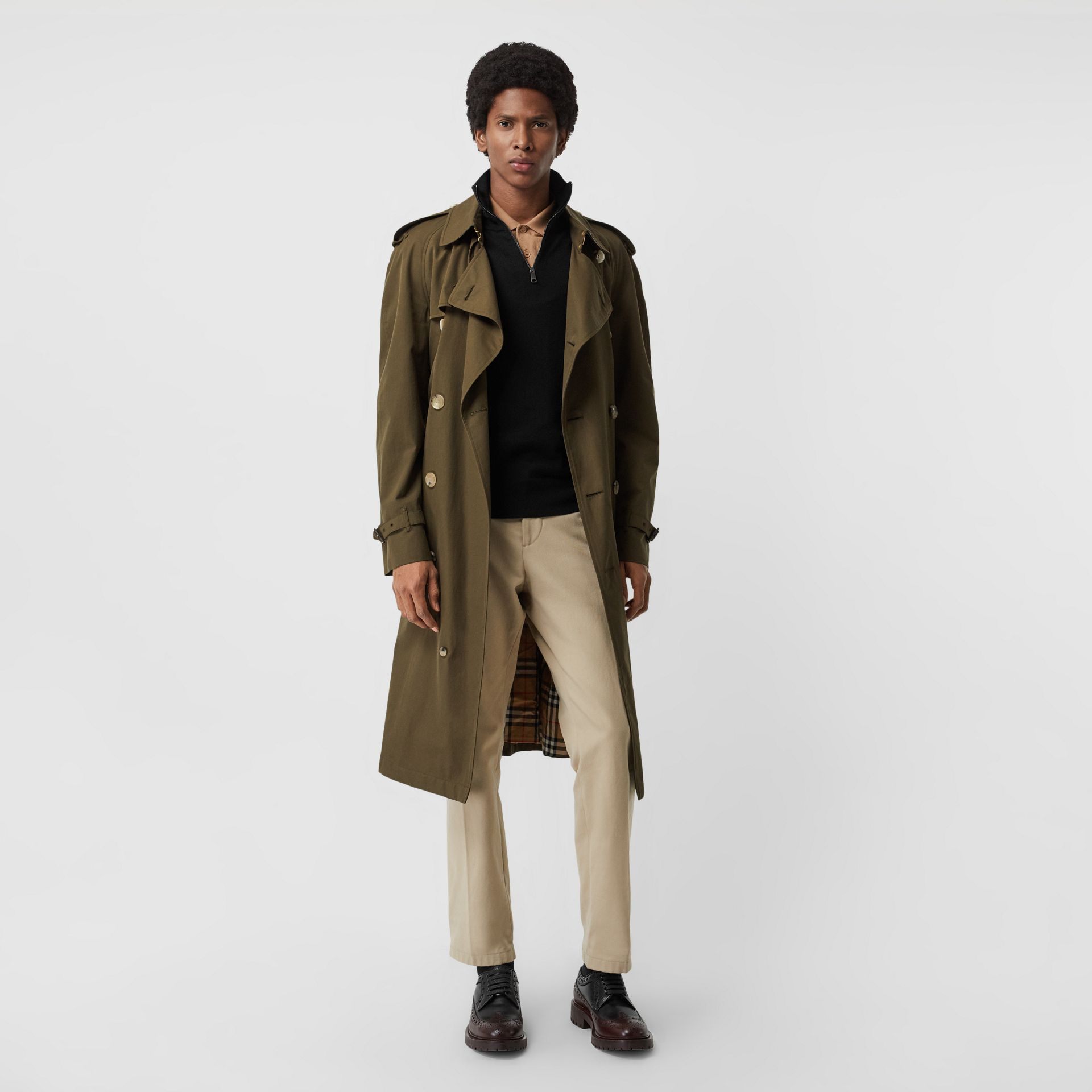 Merino Wool Half-zip Sweater in Black - Men | Burberry - gallery image 4