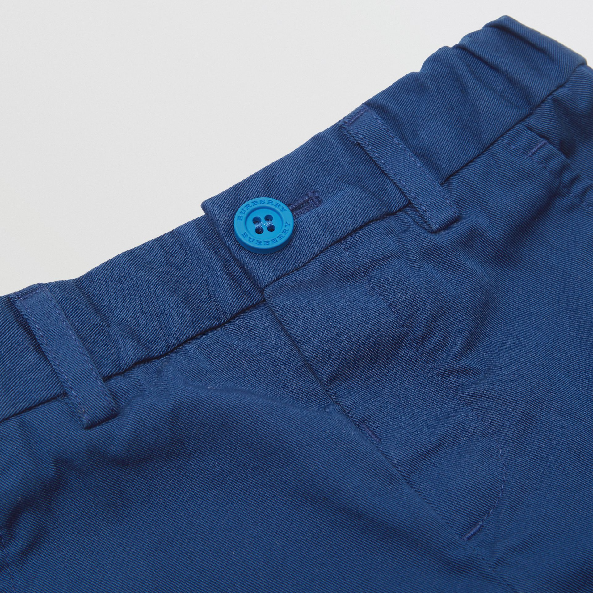 Cotton Chinos in Bright Navy | Burberry - gallery image 1