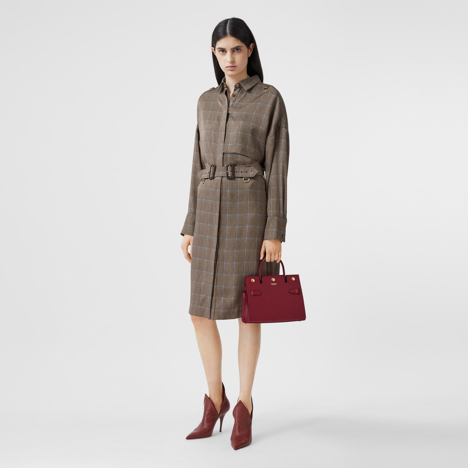 Mini Leather Title Bag in Dark Crimson - Women | Burberry United Kingdom - gallery image 5