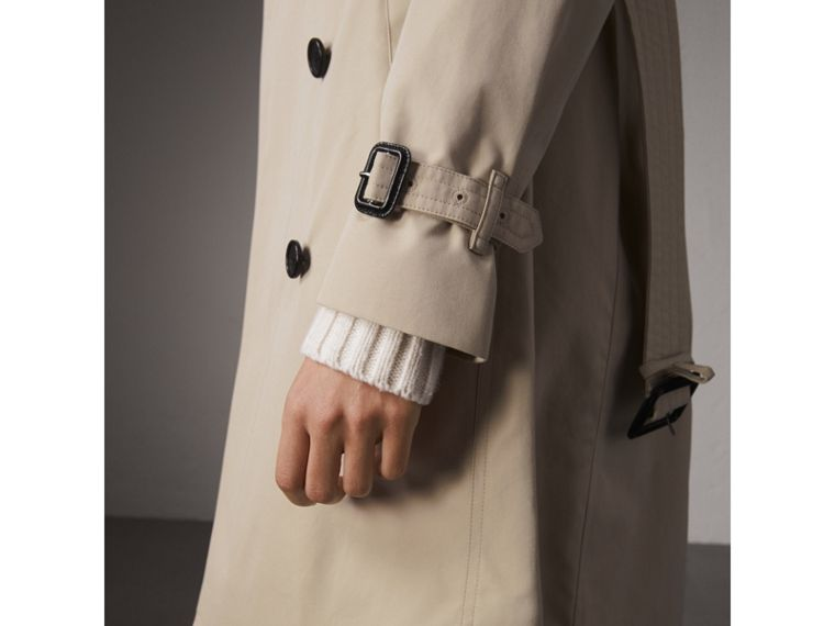 The Kensington – Long Trench Coat in Stone - Women | Burberry - cell image 4