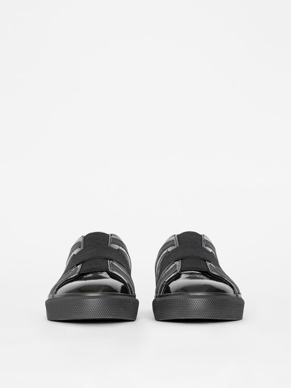 Union Jack Motif Slip-on Sneakers in Black - Women | Burberry - cell image 3