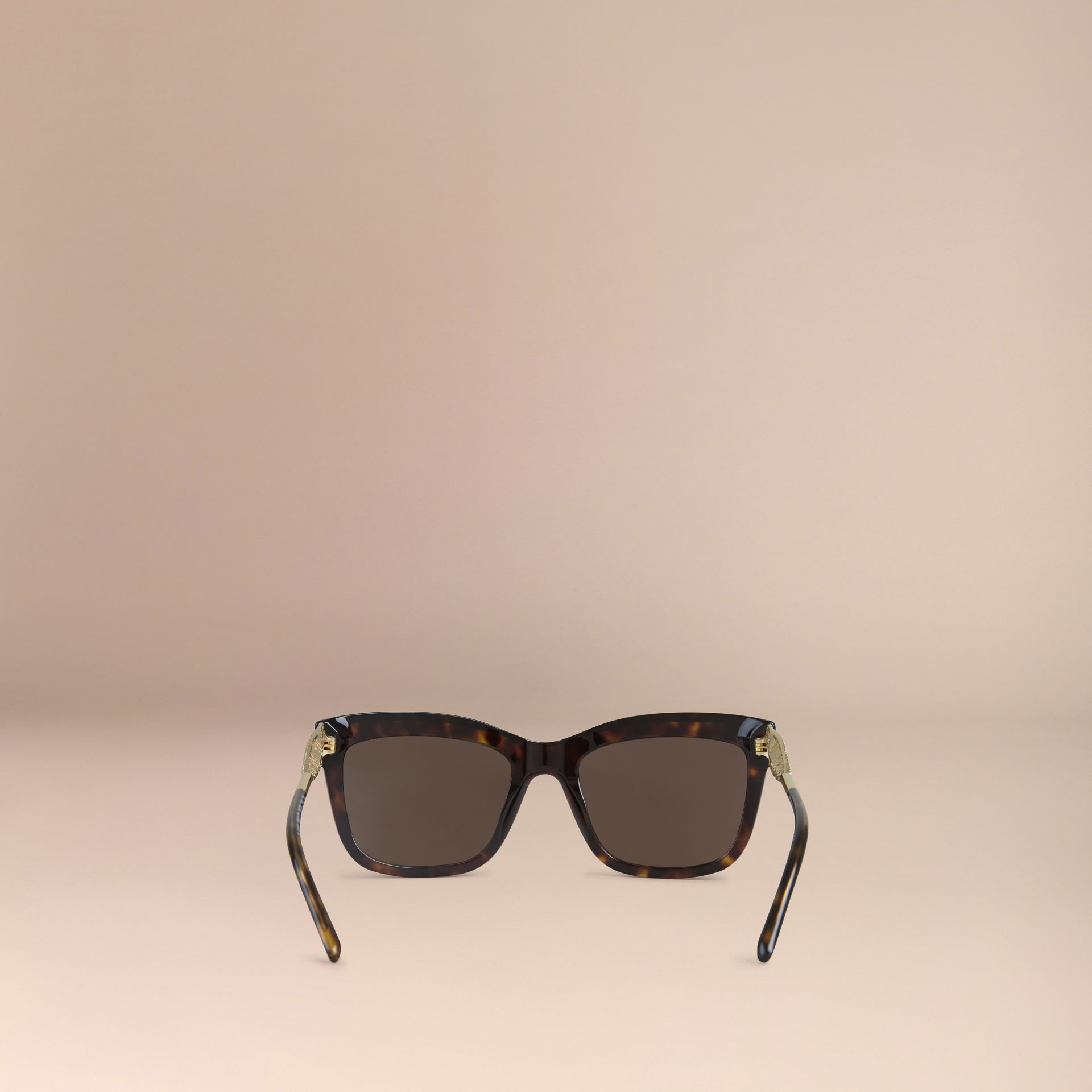 Gabardine Lace Collection Square Frame Sunglasses in Tortoise Shell - gallery image 3