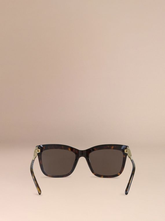 Gabardine Lace Collection Square Frame Sunglasses in Tortoise Shell - cell image 2