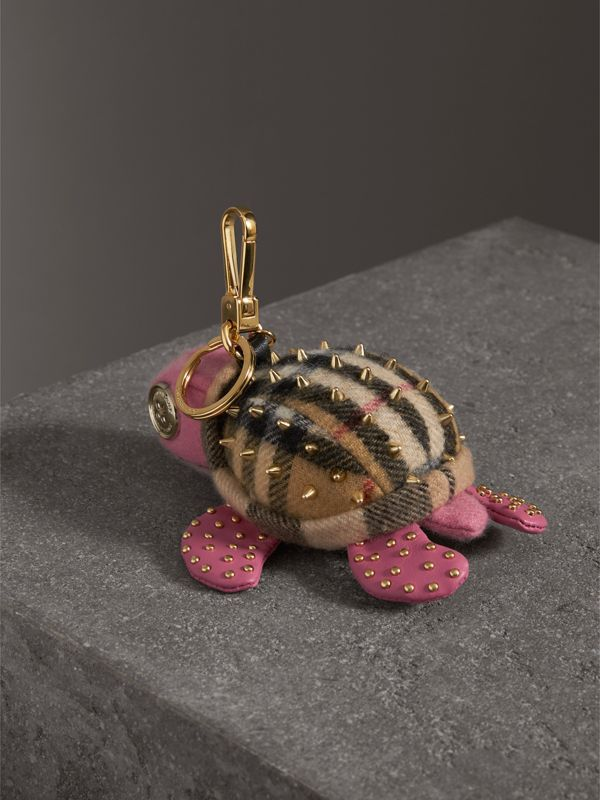Beatrice The Turtle Cashmere Charm in Pink/antique Yellow | Burberry - cell image 3