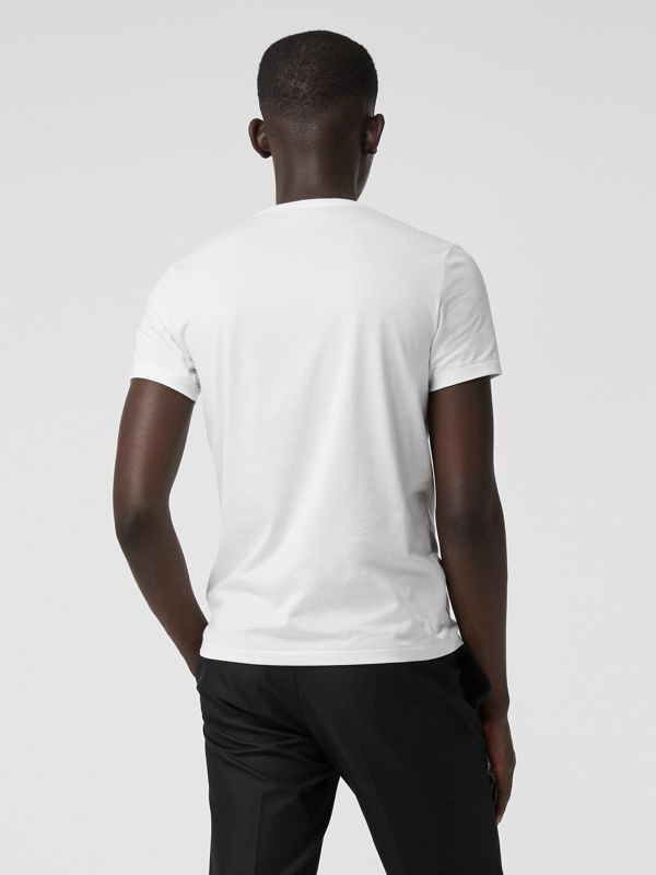 Cotton Jersey T-shirt in White - Men | Burberry Hong Kong - cell image 2
