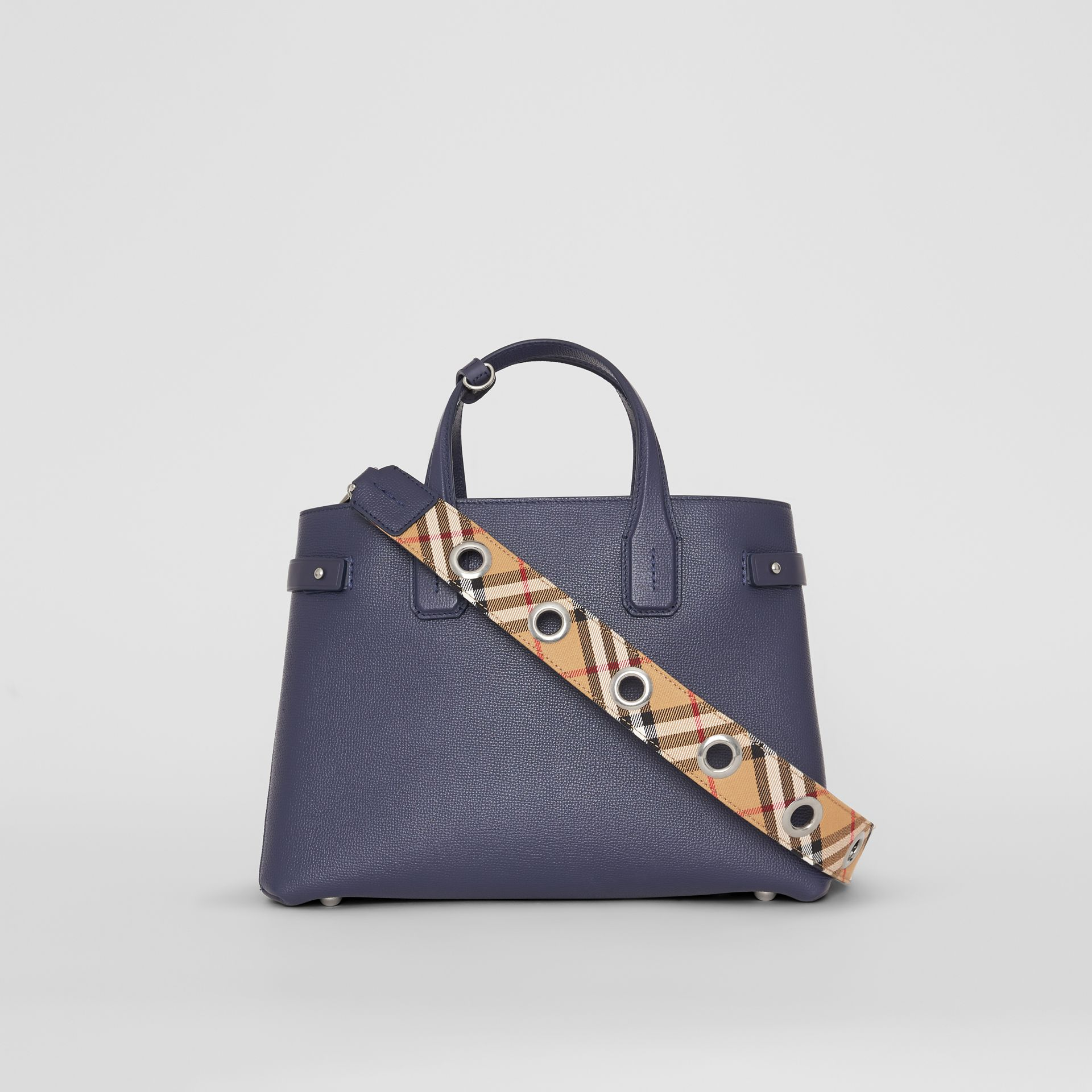 The Medium Banner in Leather with Grommeted Strap in Regency Blue - Women | Burberry - gallery image 7