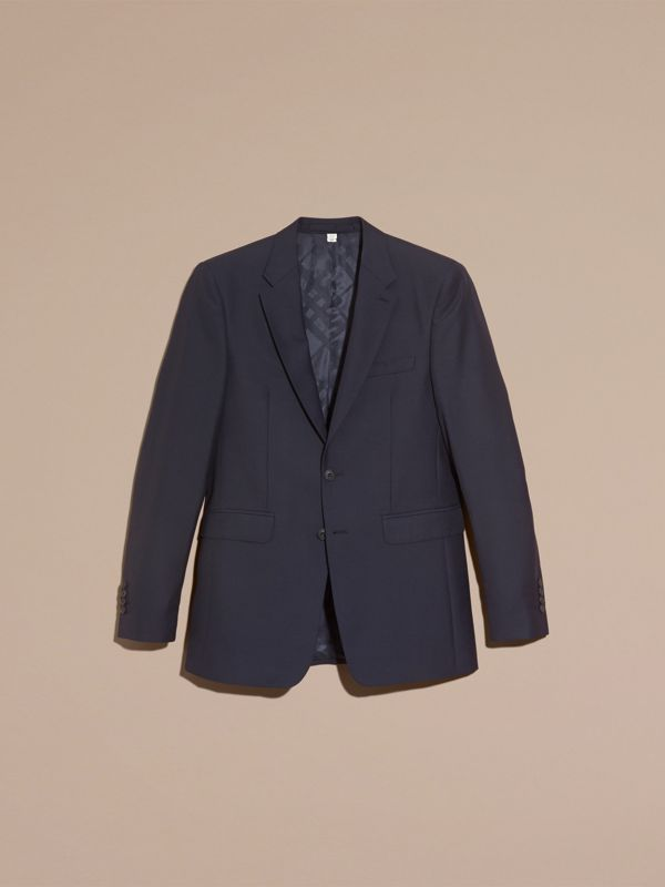 Modern Fit Wool Suit in Navy - Men | Burberry Singapore - cell image 3