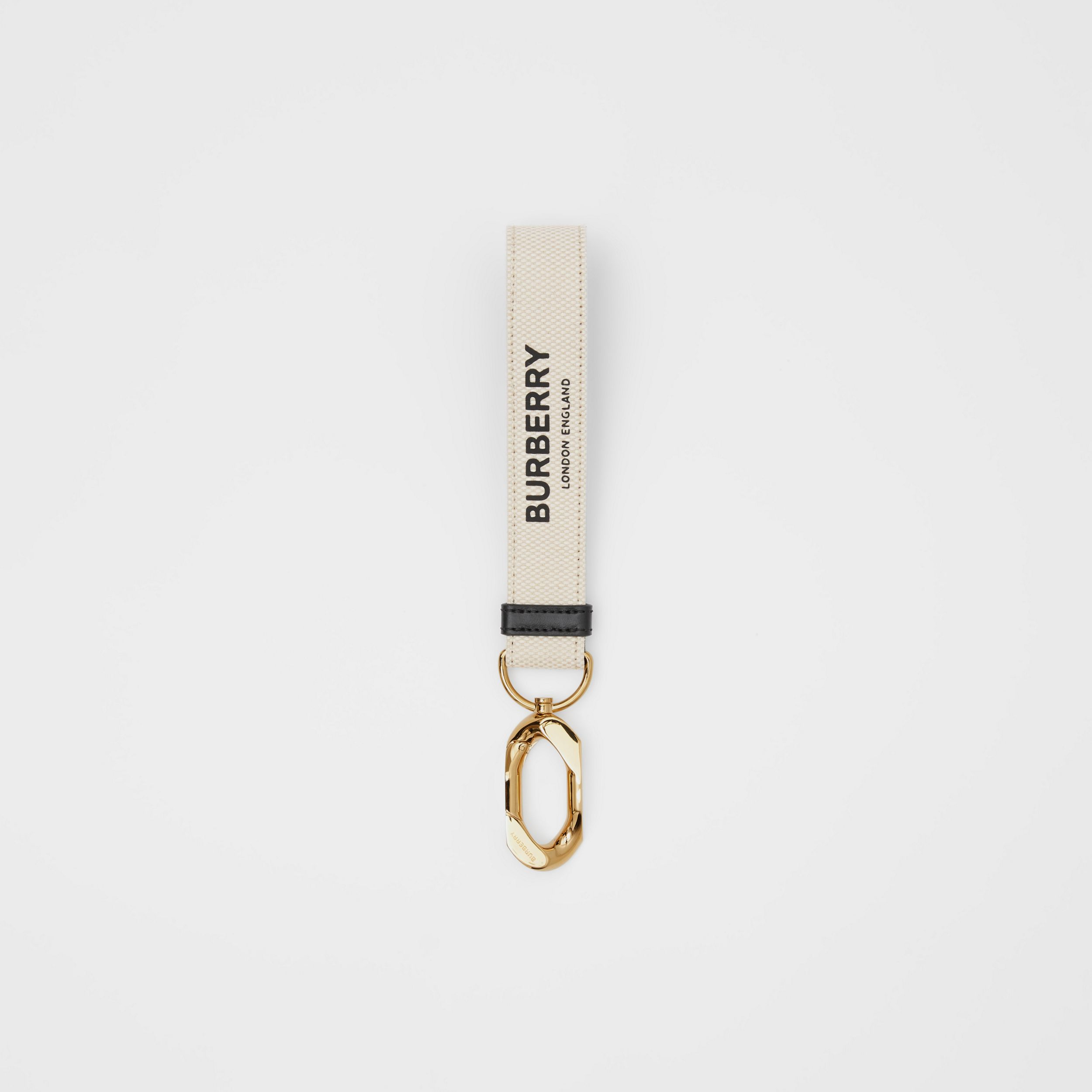 Horseferry Print Cotton Canvas Charm in White | Burberry - 1