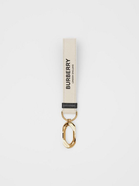 Horseferry Print Cotton Canvas Charm in White