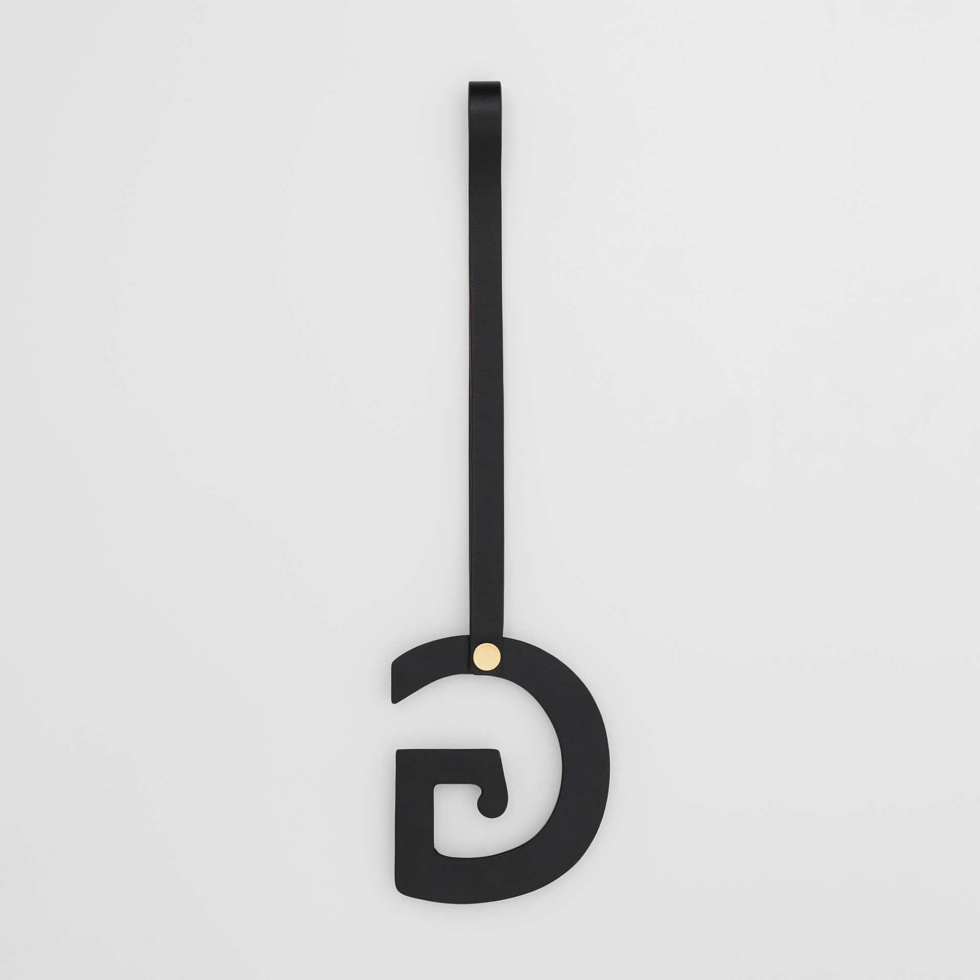 'G' Studded Leather Alphabet Charm in Black/light Gold - Women | Burberry Hong Kong S.A.R - gallery image 2