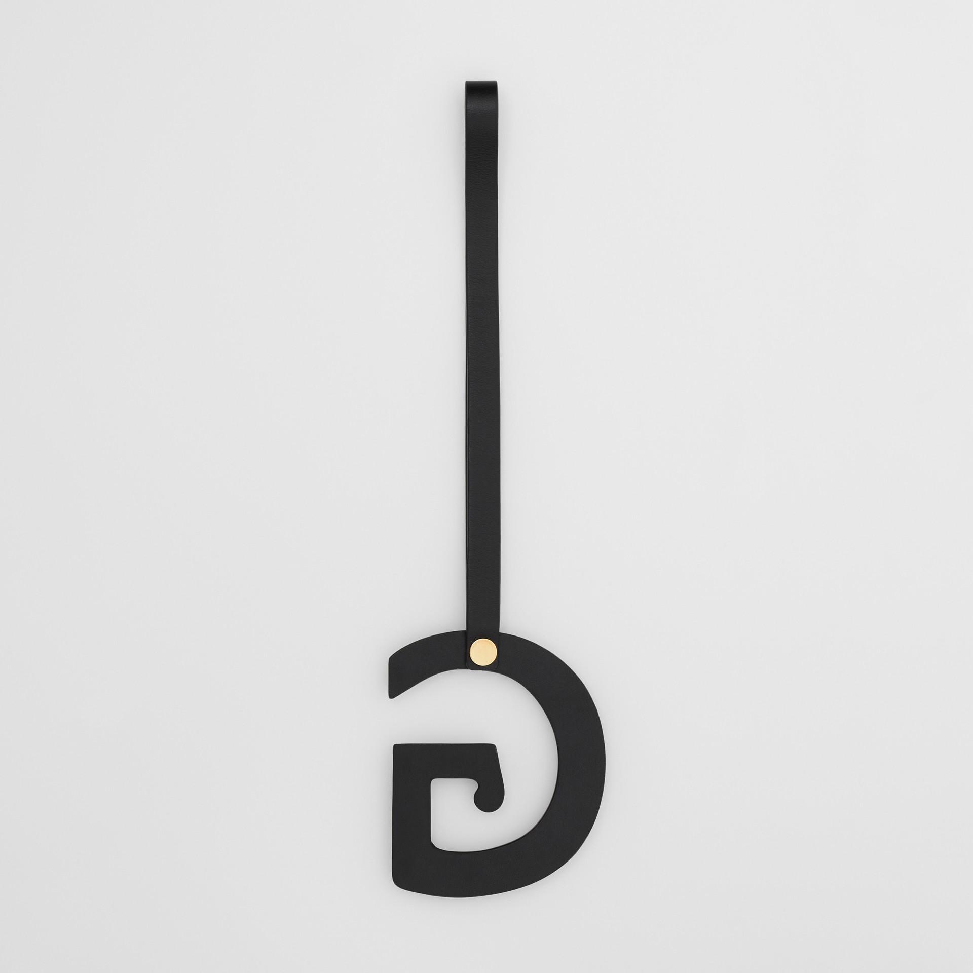 'G' Studded Leather Alphabet Charm in Black/light Gold - Women | Burberry Australia - gallery image 2
