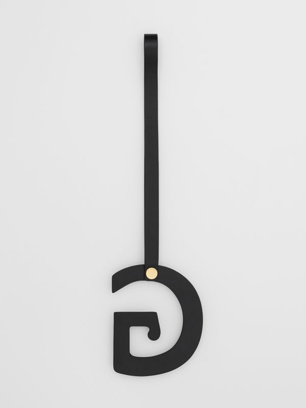 'G' Studded Leather Alphabet Charm in Black/light Gold - Women | Burberry Australia - cell image 2