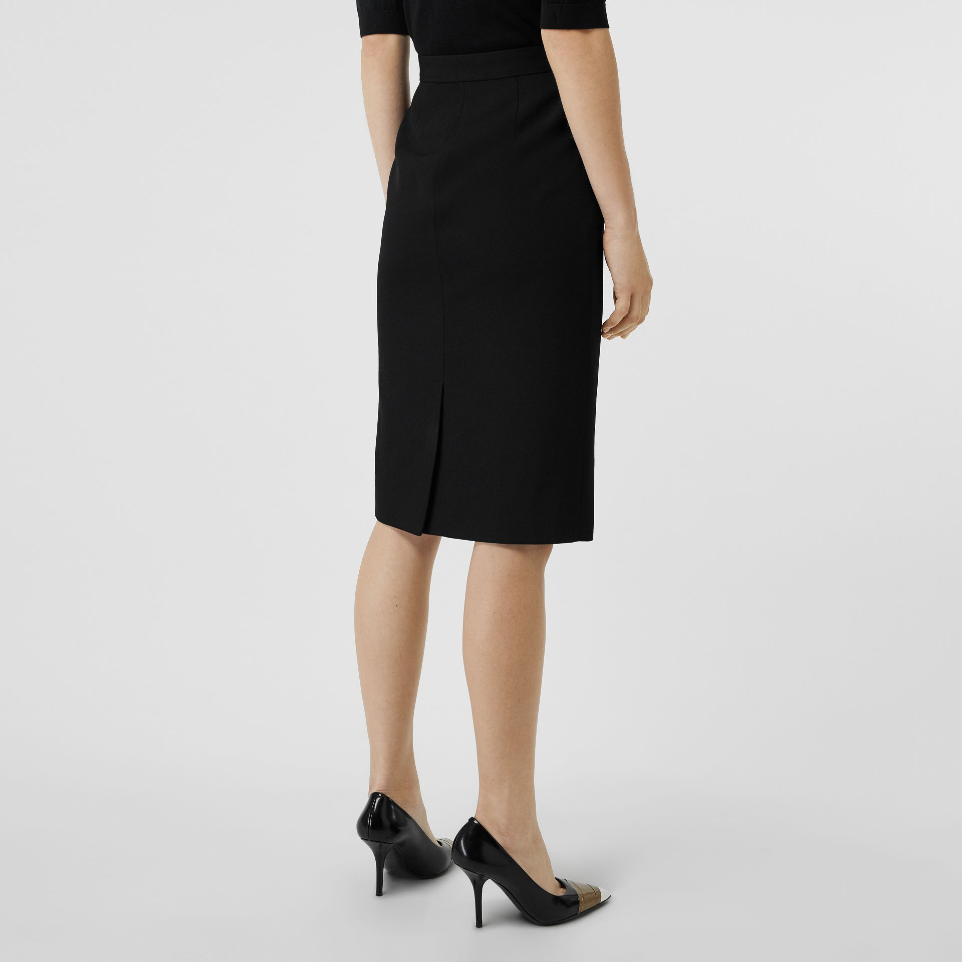 Wool High-waisted Pencil Skirt in Black - Women | Burberry Hong Kong - gallery image 2