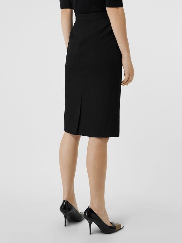 Wool High-waisted Pencil Skirt in Black - Women | Burberry United Kingdom - cell image 2