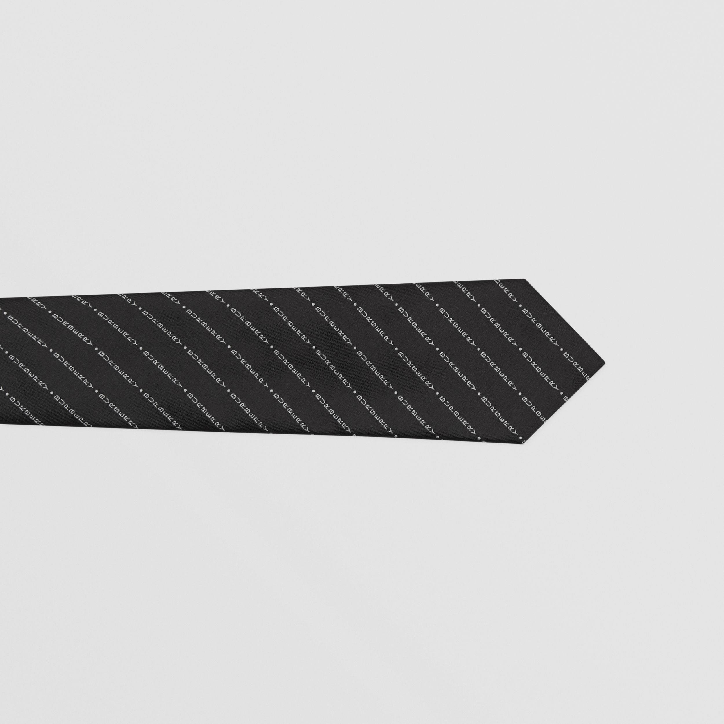 Classic Cut Logo Silk Jacquard Tie in Black - Men | Burberry - 2