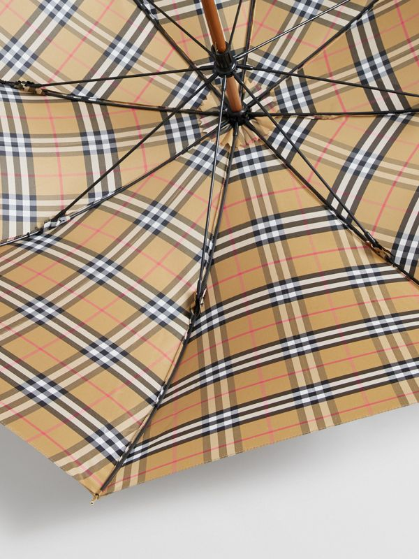 Vintage Check Walking Umbrella in Antique Yellow/black | Burberry Australia - cell image 3