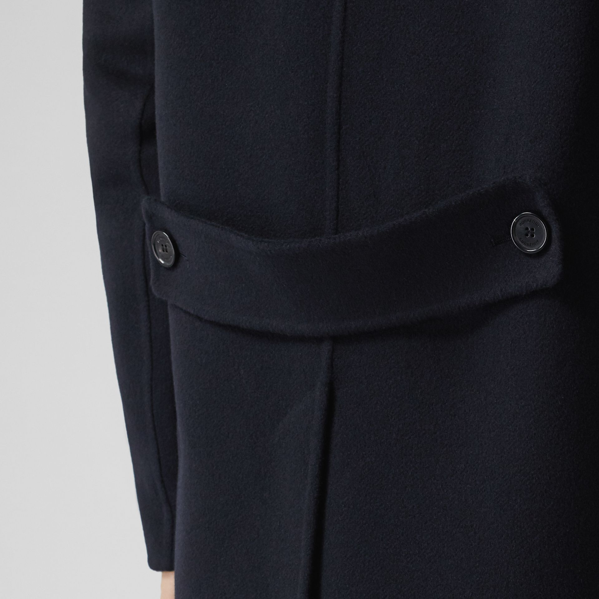 Cashmere Lab Coat in Navy - Men | Burberry Australia - gallery image 5
